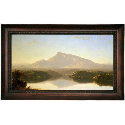 'Wilderness 1860' Framed Oil Painting Print on Canvas Format: Dark Brown Framed, Size: 15.5
