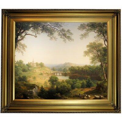 'Sunday Morning 1860' Framed Oil Painting Print on Canvas Format: Gold Framed, Size: 26
