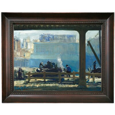 'Blue Morning 1909' Framed Oil Painting Print on Canvas Format: Chocolate Framed, Size: 15.5'' H x 19.5'' W x 1.5'' D