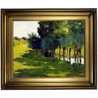'Sunlight and Shadow' Framed Oil Painting Print on Canvas Format: Gold/Brown Frame, Size: 21.25