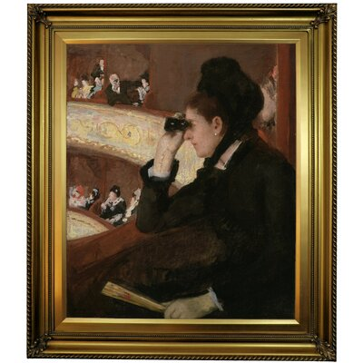 'In the Loge 1878' by Mary Cassatt Framed Oil Painting Print on Canvas Format: Gold Framed, Size: 30