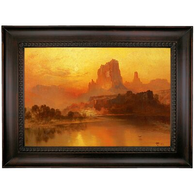 'The Golden Hour' Framed Oil Painting Print on Canvas