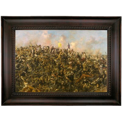 'Custers Last Stand 1899' Framed Oil Painting Print on Canvas Format: Black Framed, Size: 17.25'' H x 23.25'' W x 1.5'' D