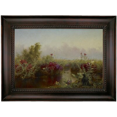 'Duck Hunting 1867' Framed Oil Painting Print on Canvas Format: Charcoal Framed, Size: 26