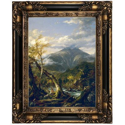 'Indian Pass 1847' Framed Oil Painting Print on Canvas Format: Peru Framed, Size: 21.25