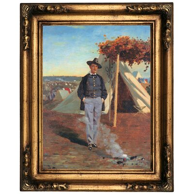 'Portrait of Albert Post ' by Winslow Homer Framed Oil Painting Print on Canvas Format: Gold/Brown Frame, Size: 20.5