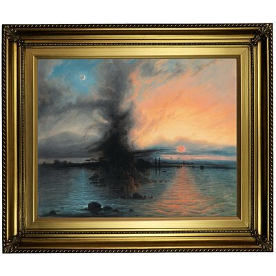 'The Rock of Salvation 1837' Framed Oil Painting Print on Canvas in Gold Format: Light Gold Framed, Size: 22