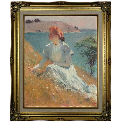 'Margaret Gretchen Strong 1909' Framed Oil Painting Print on Canvas Format: Antique Gold Framed, Size: 25.25