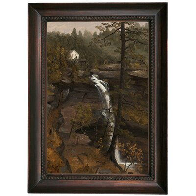 'Kauterskill Falls 1846' Framed Oil Painting Print on Canvas Format: Chocolate Brown Framed, Size: 21.5