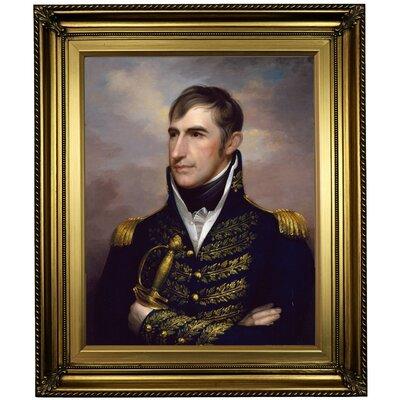 'Portrait of William Henry Harrison 1813' Framed Oil Painting Print on Canvas Format: Light Gold Framed, Size: 26