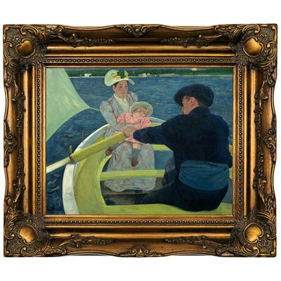 'The Boating Party' by Mary Cassatt Framed Oil Painting Print on Canvas Format: Dark Gold Framed, Size: 16.5