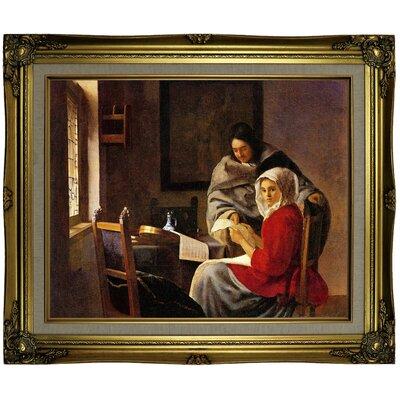 'Girl Interrupted' Framed on Canvas Format: Brown/Gold Framed, Size: 21.25