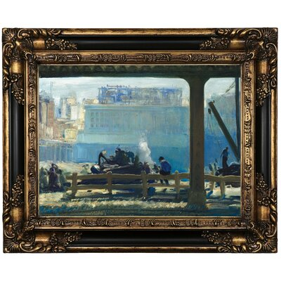'Blue Morning 1909' Framed Oil Painting Print on Canvas Format: Black Framed, Size: 17.25'' H x 21.25'' W x 1.5'' D