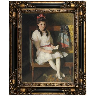 'Portrait of Gertrude Russell 1915' Framed Oil Painting Print on Canvas Format: Peru Framed, Size: 21.25
