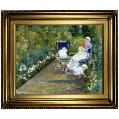 'Children' Framed Oil Painting Print on Canvas Format: Dark Bronze Framed, Size: 22'' H x 26'' W x 1.5'' D