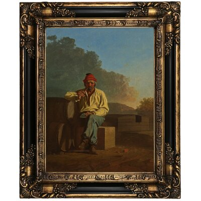 'Mississippi Boatman 1850' Framed Oil Painting Print on Canvas Format: Peru Framed, Size: 21.25