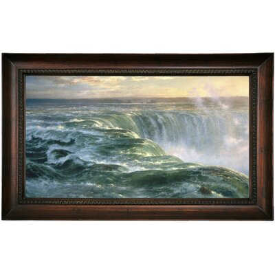 'Niagara Falls 1866' Framed Oil Painting Print on Canvas Format: Dark Brown Framed, Size: 15.5
