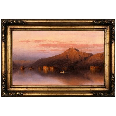 'Whiteface Mountain' Framed Oil Painting Print on Canvas Format: Black Frame, Size: 26