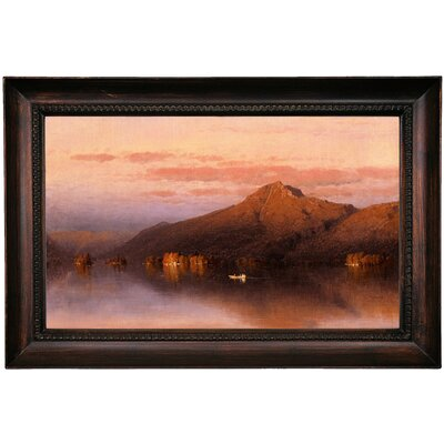 'Whiteface Mountain' Framed Oil Painting Print on Canvas Format: Black Frame, Size: 15.5