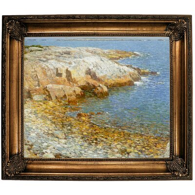 'Isles of Shoals Broad Cove 1911'  Framed Oil Painting Print on Canvas Format: Bronze Framed, Size: 26.25