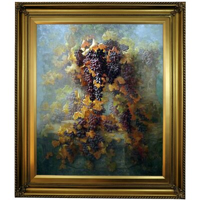 'Grapes and Architecture 1907'  Framed Oil Painting Print on Canvas Format: Gold Framed, Size: 30