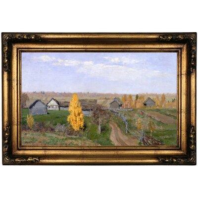 'Golden autumn Slobodka 1889' Framed Oil Painting Print on Canvas Format: Antique Gold Framed, Size: 16.5