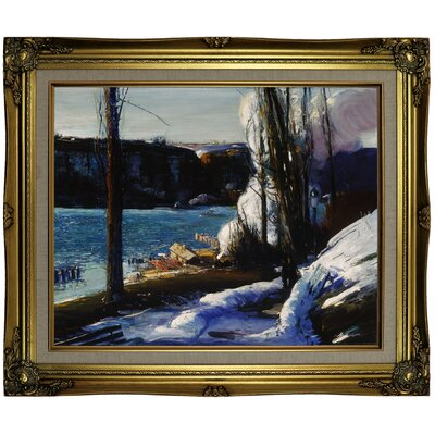 'The Palisades 1909' Framed Oil Painting Print on Canvas in Gold ALTH4792 43587810