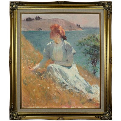 'Margaret Gretchen Strong 1909' Framed Oil Painting Print on Canvas Format: Gray/Gold Framed, Size: 29.25