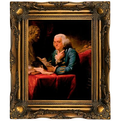 'Benjamin Franklin 1767' Framed Print on Canvas Format: Bronze Frame, Size: 19.5