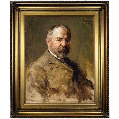 'John Philip Sousa 1909' Framed Oil Painting Print on Canvas Format: Gold Framed, Size: 26