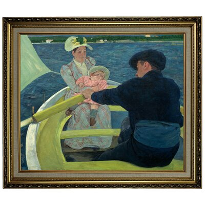 'The Boating Party' by Mary Cassatt Framed Oil Painting Print on Canvas Format: Yellow Framed, Size: 24.15