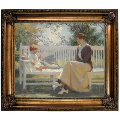 'Eleanor and Benny 1916' Framed Oil Painting Print on Canvas Format: Bronze Framed, Size: 26.25