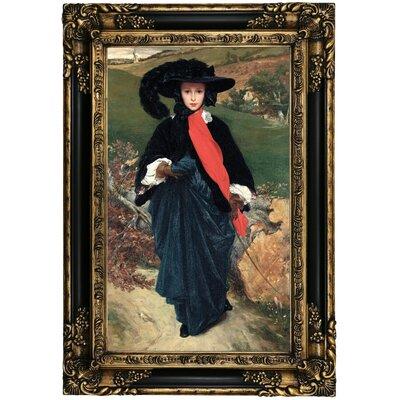 'Portrait of May Sartoris 1860' Framed Oil Painting Print on Canvas Format: Black Gold Framed, Size: 25.25