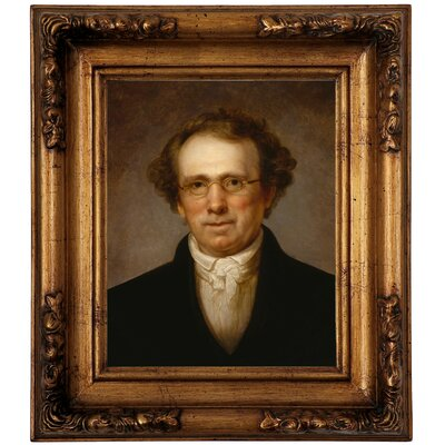 'Portrait of Henry Robinson 1814' Framed Oil Painting Print on Canvas Format: Antique Gold Framed, Size: 14.5