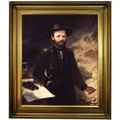 'Portrait of Ulysses S. Grant 1865' Framed Oil Painting Print on Canvas Format: Gold Framed, Size: 30
