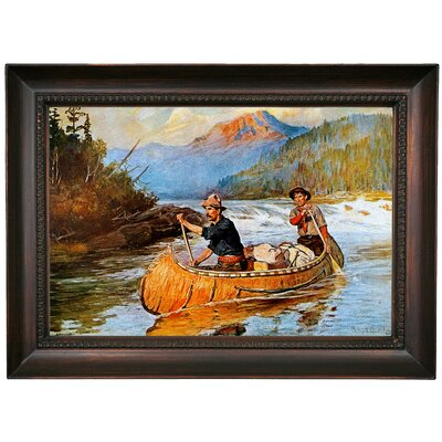 'In Strange Waters' Framed Oil Painting Print on Canvas Format: Black Frame, Size: 15.5