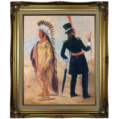 "'Wi-jon-jon, Pigeons Egg Head' Framed Oil Painting Print on Canvas Format: Gold Frame, Size: 25.25"" H x 21.25"" W ARGD5458 43990953"