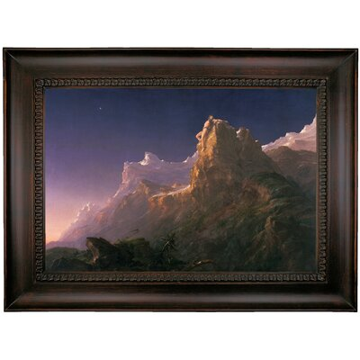 'Prometheus Bound 1847' Framed Oil Painting Print on Canvas Format: Charcoal Framed, Size: 26