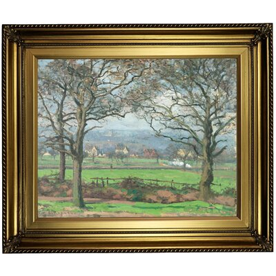 'Near Sydenham Hill 1871' by Camille Pissarro Framed Oil Painting Print on Canvas Format: Light Gold Framed, Size: 22