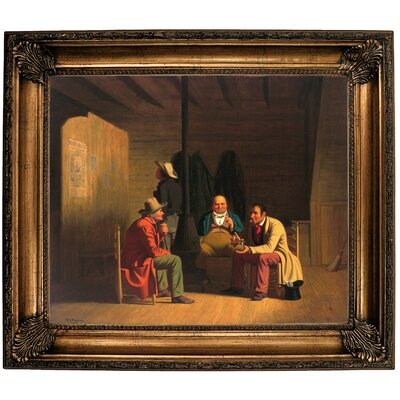 'Country Politician 1849' Framed Oil Painting Print on Canvas Format: Dark Copper Framed, Size: 22'' H x 26'' W x 1.5'' D