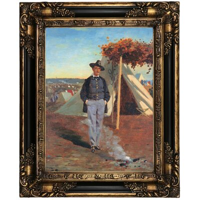 'Portrait of Albert Post ' by Winslow Homer Framed Oil Painting Print on Canvas Format: Brown Frame, Size: 21.25