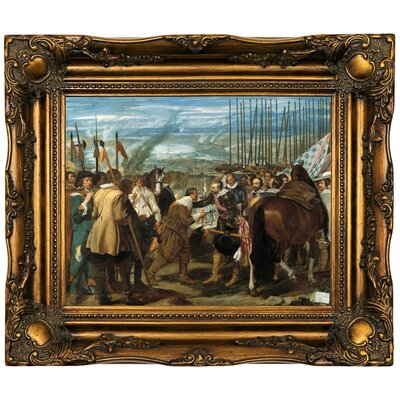 'The Surrender of Breda (The Lances)' Framed Oil Painting Print on Canvas Format: Dark Gold Framed, Size: 16.5