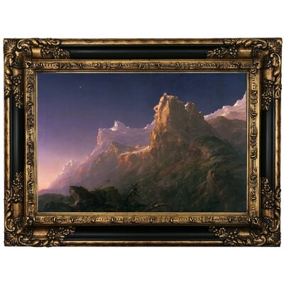 'Prometheus Bound 1847' Framed Oil Painting Print on Canvas Format: Black Framed, Size: 17.25