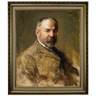 'John Philip Sousa 1909' Framed Oil Painting Print on Canvas Format: Light Gold Framed, Size: 28.15