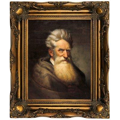 'John Brown 1872' Framed Oil Painting Print on Canvas Format: Bronze Framed, Size: 19.5