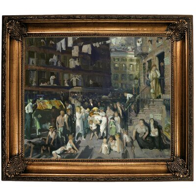 'Cliff Dwellers 1913' Framed Oil Painting Print on Canvas Format: Dark Gold Framed, Size: 26.25'' H x 30.25'' W x 2.75'' D