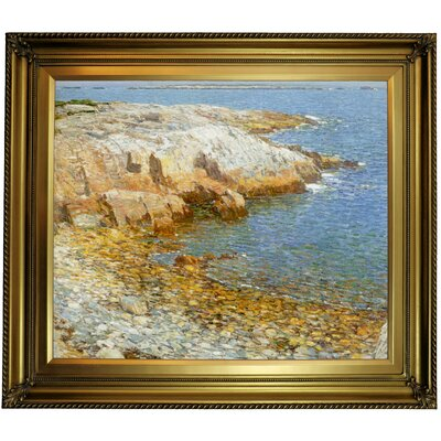 'Isles of Shoals Broad Cove 1911'  Framed Oil Painting Print on Canvas Format: Gold Framed, Size: 26