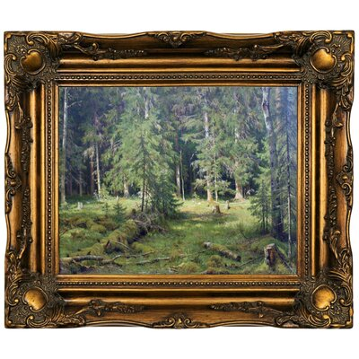 'Forest 1890' Framed Oil Painting Print on Canvas Format: Dark Gold Framed, Size: 16.5