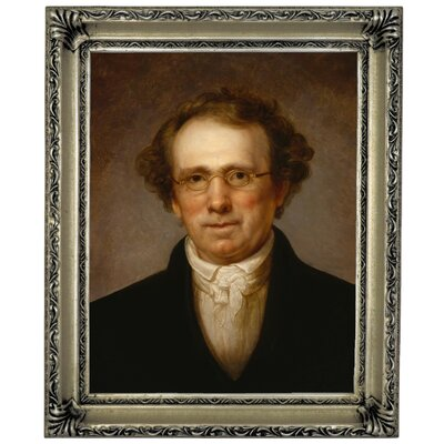 'Portrait of Henry Robinson 1814' Framed Oil Painting Print on Canvas Format: Silver Framed, Size: 17