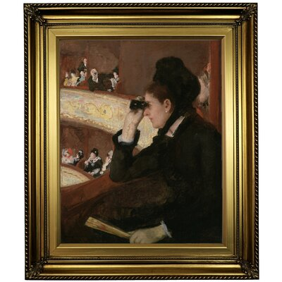 'In the Loge 1878' by Mary Cassatt Framed Oil Painting Print on Canvas Format: Light Gold Framed, Size: 26